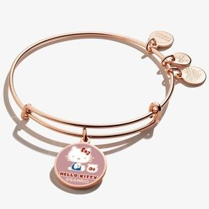 ALEX AND ANI HELLO KITTY ROSE GOLD BANGLE BRACELET